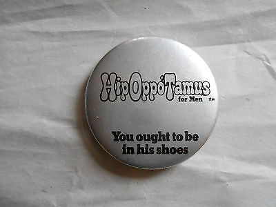 Vintage HipOppoTamus Shoes For Men Advertising Pinback Button