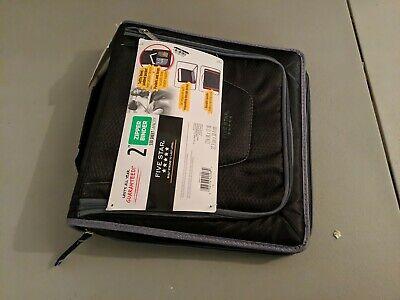Five Star 2 530 Sheet Ring Zipper Binder - Black