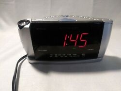 Emerson Big Display CKS3528 Dual Alarm Clock AM/FM Radio SmartSet Time Projector