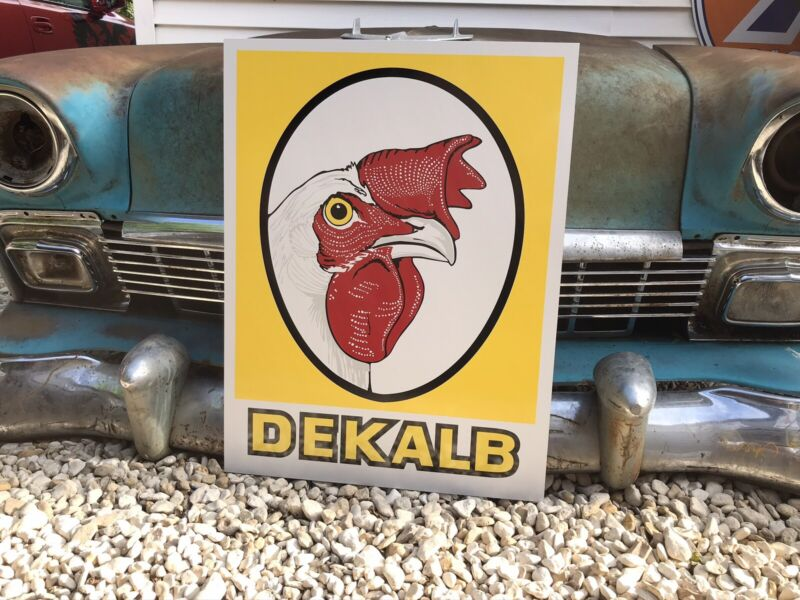 Antique Vintage Old Style Dekalb Seed Feed Farm Sign