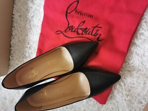 Christian Louboutin Pigalle Black Leather Pumps Heels 85mm EU 36 AU 5