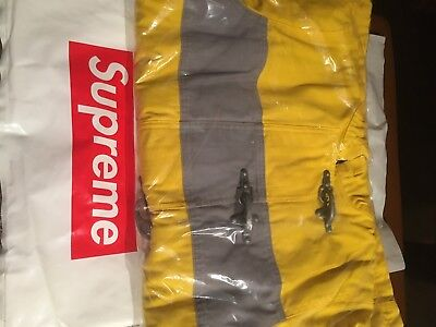 NWT Supreme Hooded Firemans Coat Size M Yellow