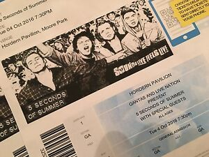 Five Seconds of Summer - Seven (7) tickets available Summer Hill Ashfield Area Preview