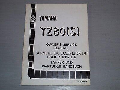 YAMAHA YZ80 (S)  WORKSHOP MANUAL, PART # 1LR-28199-80