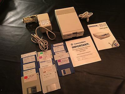 Commodore 1581 Disk Drive With Original Box, Power Supply, & Serial Cable 3 1/2""