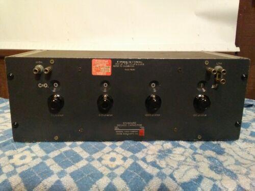 General Radio GR GenRad 1423-A Standard Decade Capacitor 100 pf - 1.111 Mfd