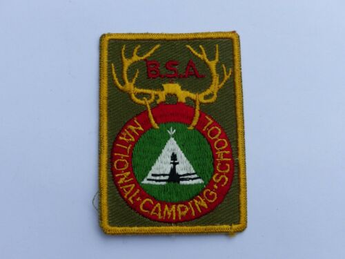 Used Vintage NATIONAL CAMPING SCHOOL Boy Scout BSA Khaki Pocket Patch