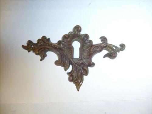 Vintage Keyhole Skeleton Key Escutcheon Lock Plate Ornate  Estate Find