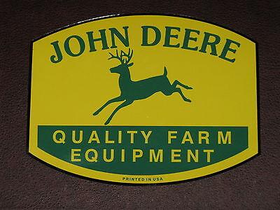 John Deere Logo 7 Qfe 1950s Printed In Usa Decal Sticker Tractor Gator