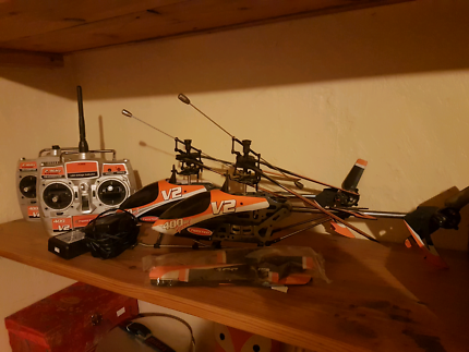 RC helicopter plus spare for parts