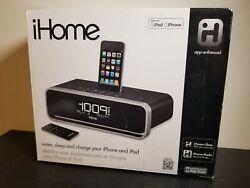 iHome ia91BZDual Alarm Clock Radio Stereo iPhone/iPod Docking Station w/ Remote!