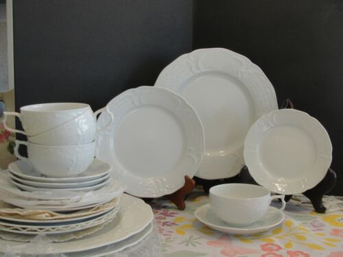 ROSENTHAL SANSOUCI WHITE 4 - 5 PIECES SETTING 20 PIECES  LOOK NEW