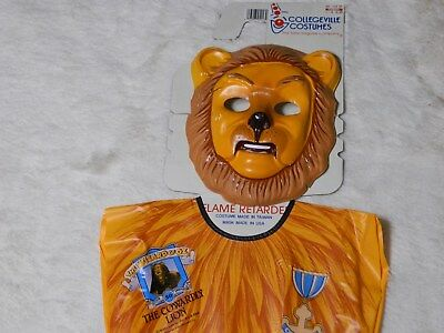 Wizard Of Oz Cowardly Lion Halloween Costume Size 3-4 Years Old Vintage FREE S&H - Halloween Costumes 3 Year Old