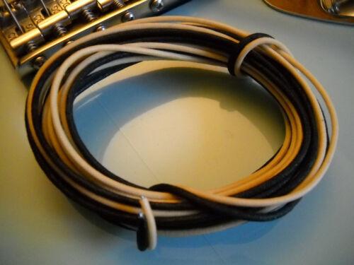 20 Feet Gavitt Vintage Style Pre-tinned Cloth PushBack Guitar Wire 22 awg -22ga