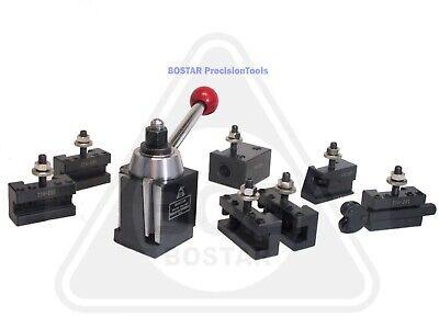 Bostar Bxa 250-222 Wedge Type Tool Post Tool Holder Set For Lathe10 - 15 9pc