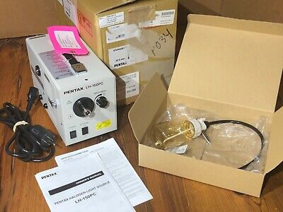Pentax Lh-150pc Halogen Light Source W Water Bottle Medical Cord And Manual