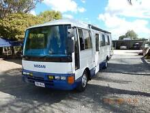 1989 Nissan Civillian  motorhome car and trailer. Brisbane South West Preview