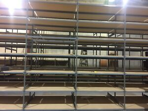 "30 sections 14' high 30""deep 66"" wide EZ Rect type 1 shelving"
