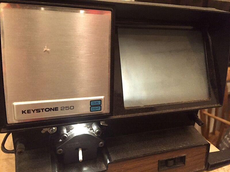 KEYSTONE 250 MOVIE EDITOR/VIEWER - DUAL 8MM/SUPER 8 - Original Box & Manual