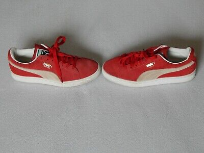 PUMA SUEDE CLASSIC MENS RED SUEDE SHOES TRAINERS UK 6 ,EURO 39