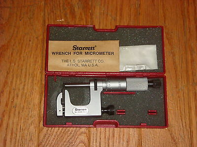 Starrett 220m-25 Mul-t-anvil Micrometer Ratchet Stop Lock Nut Carbide Face