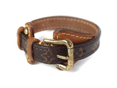 Auth LOUIS VUITTON Monogram Canvas Leather Bracelet LA12735L