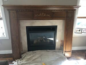 Fireplace Mantle with Marble Surround