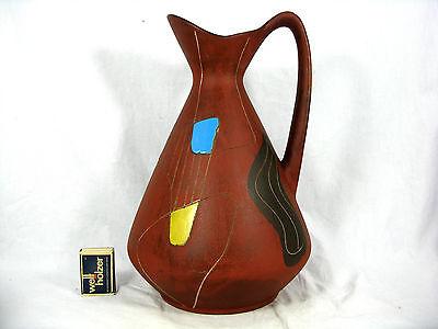 """Rare / seltene 50´s Bodo Mans design BAY Keramik pottery vase """" Brasil"""" 244 - 30"""