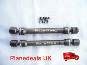 Steel Universal Sliding Drive Shafts for rc crawlers AX10  D90 110-150mm S19
