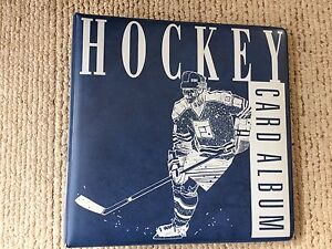 Hockey Card Binder with Protective Sheets