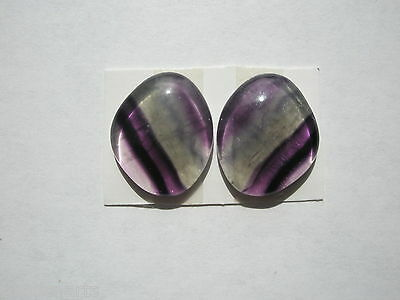 Natural AA Rainbow Fluorite lg 26.3 ct  Freeform Cabochons - 20x16mm - pair