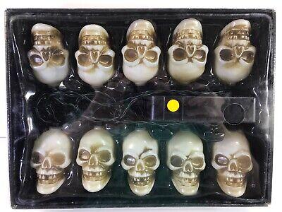 TOTALLY GHOUL Musical Blinking Halloween Skeleton Light String Set Blow Mold