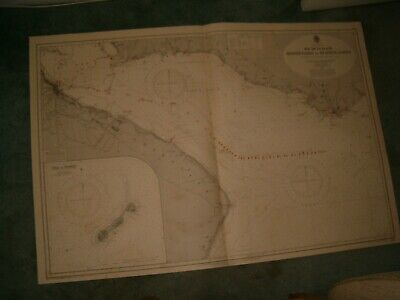 Vintage Admiralty Chart 1749 SOUTH AMERICA - MONTEVIDEO to BUENOS AIRES 1937 edn