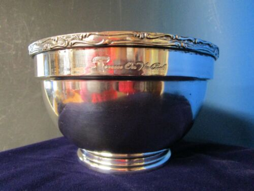 TERRACE ON THE PARK Footed Bowl or Icer Silverplate Rococo Style Rim C1960s