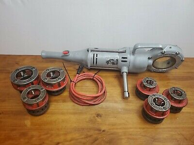 Ridgid 700 Pipe Threader Machine With Lot Of 6 Dies Plumbing