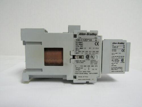 ALLEN-BRADLEY 100-C12D*10 SER. A CONTACTOR W/100-F SER. A CONTACT BLOCK