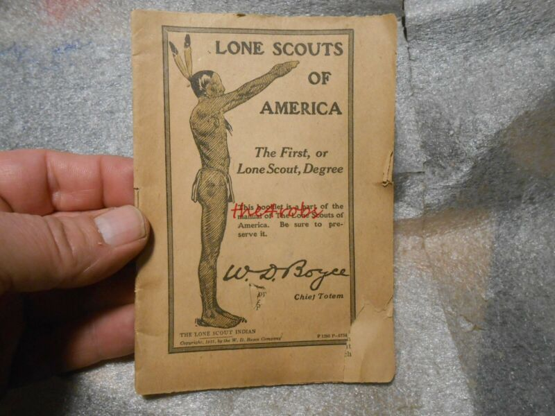 Vintage Lone Scouts of America First Degree Booklet