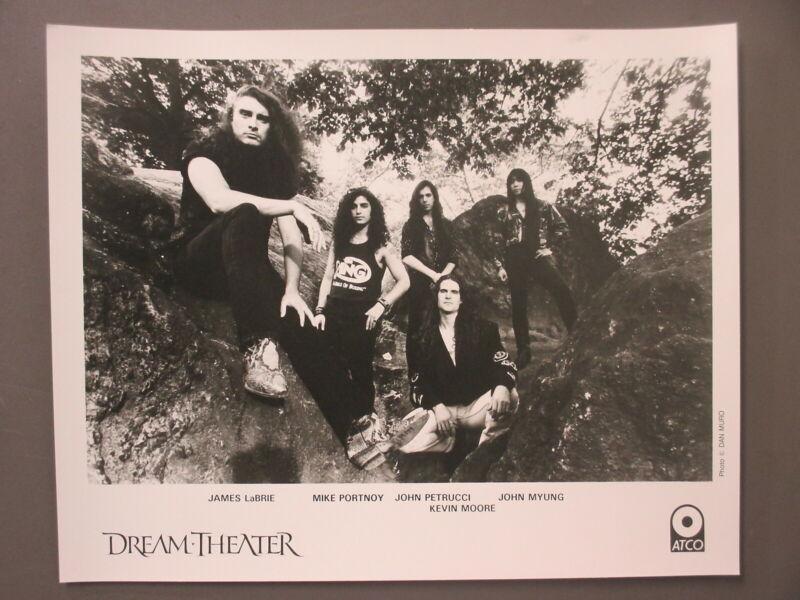 Dream Theater promo photo 8 X 10 black & white matte finish ORIGINAL outdoors !