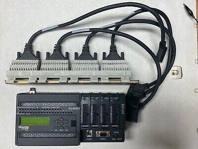 Automation Direct D0-06dd1 Direct Logic 06 Koyo Plc 2x 16nd3 2x 16td1