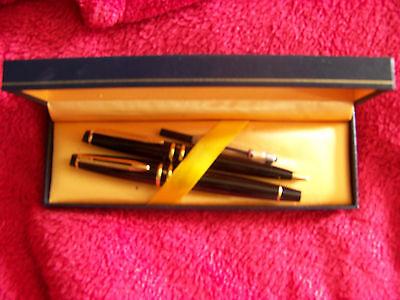 Waterman Füllfederhalter + Kugelschreiber Set in blauer Box  toller Zustand
