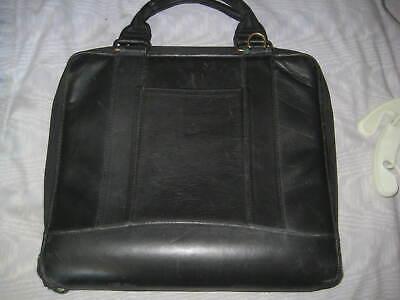 Franklin Covey Black Leather Zipper 7 Ring Binder Attache Case 40 Off