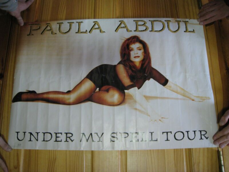 Paula Abdul Poster Vintage Sexy Under My Spell Tour