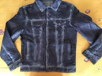 Gilded Age Men Real Genuine Leather Jacket S $500