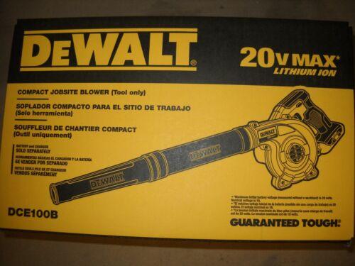 Dewalt DCE100B 20V Cordless Blower 20 Volt MAX Jobsite 3-speed Lithium Ion NEW