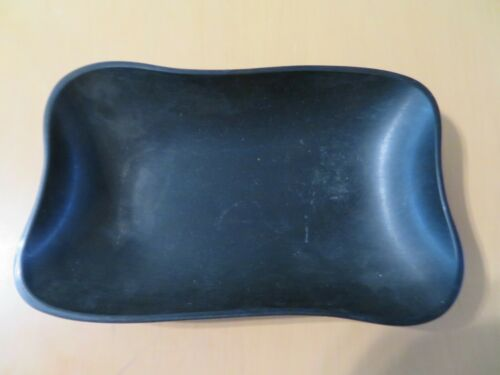 Vintage MCM Black Grainware Rectangular Candy Dish Bowl