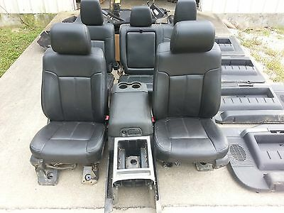 13 Ford F-350 Super Duty Lariat leather seats door panels console carpet