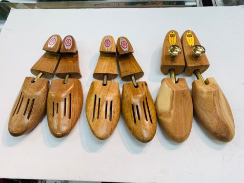 Lot of 3 PAIRS of Wood Wooden Cedar Shoe Stretchers, Size small / Large