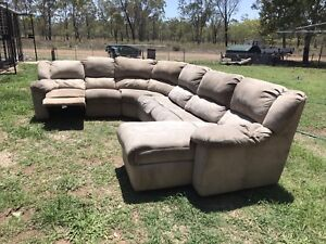 L Shaped Sofa Bed With 2 Recliners Sofas Gumtree Australia Isaac
