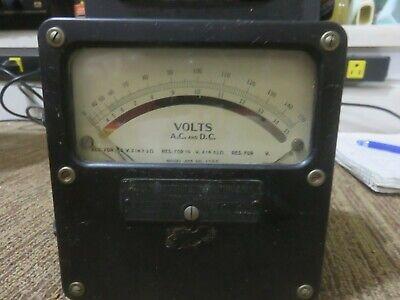 Weston A.c. D.c. Volt Meter Model 455 No.1790