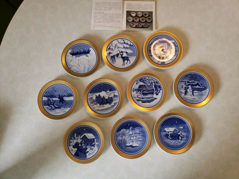 1995 Bing & Grondahl Centennial collection set of 10 , 4 1/2 inch plates